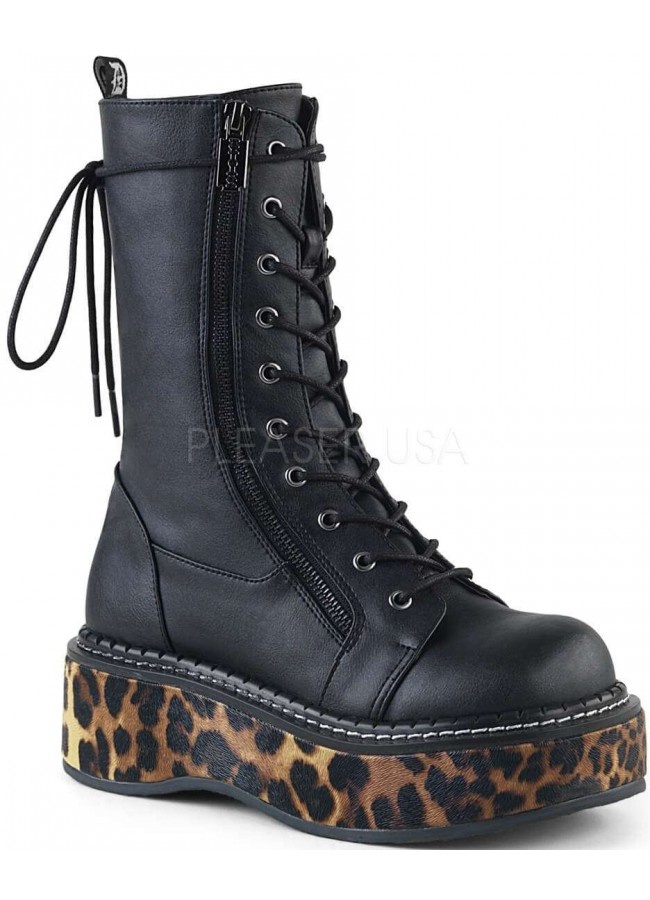 Emily Leopard Platform Mid-Calf Boot at Gothic Plus f7a620830