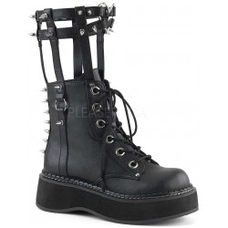 Emily Heart Cage Calf High Womens Boot Gothic Plus Gothic Clothing, Jewelry, Goth Shoes & Boots & Home Decor