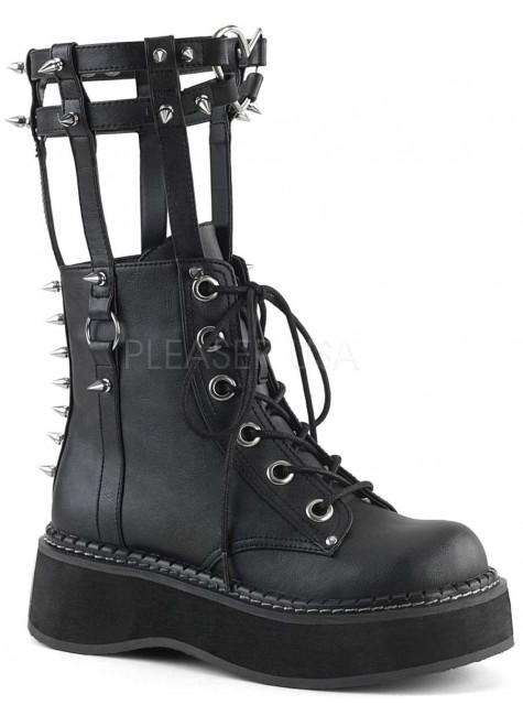 Emily Heart Cage Calf High Womens Boot at Gothic Plus, Gothic Clothing, Jewelry, Goth Shoes & Boots & Home Decor