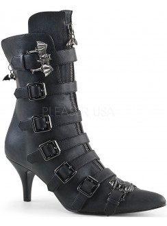 Fury Kitten Heel Winklepicker Ankle Boot Gothic Plus Gothic Clothing, Jewelry, Goth Shoes & Boots & Home Decor