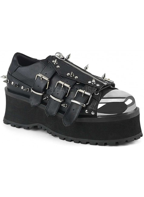 Gravedigger Mens Spiked Platform Oxford Shoe at Gothic Plus, Gothic Clothing, Jewelry, Goth Shoes & Boots & Home Decor