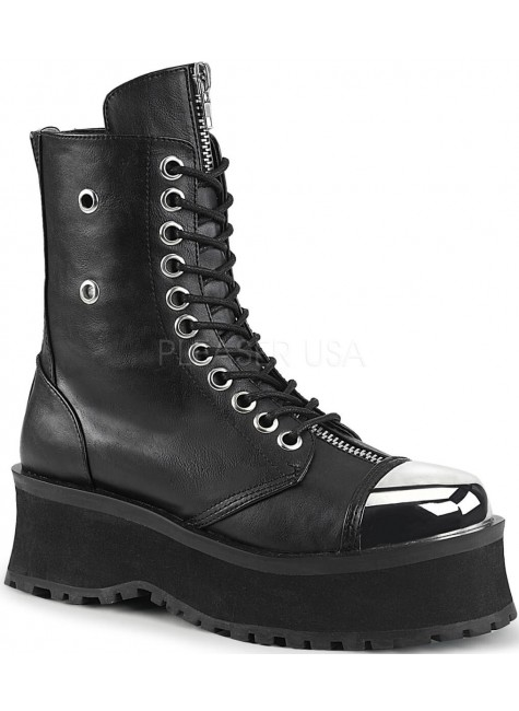 Gravedigger Mens Platform Ankle Boots at Gothic Plus, Gothic Clothing, Jewelry, Goth Shoes & Boots & Home Decor