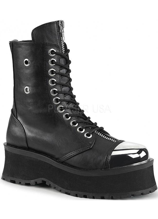75b6a0b1153 Gravedigger Mens Platform Ankle Boots