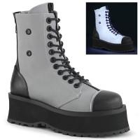 Gravedigger Mens Grey Ankle Boots