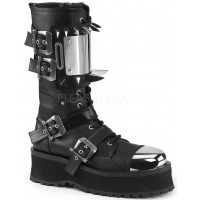 Gravedigger Mens Spiked Ankle Boots