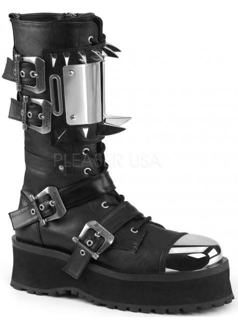 Gravedigger Mens Spiked Ankle Boots at Gothic Plus, Gothic Clothing, Jewelry, Goth Shoes & Boots & Home Decor
