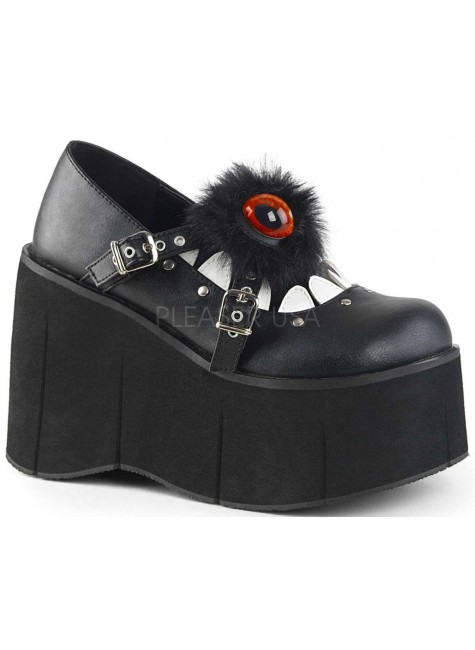 Kera Monster Platform Wedge Womens Shoe at Gothic Plus, Gothic Clothing, Jewelry, Goth Shoes & Boots & Home Decor