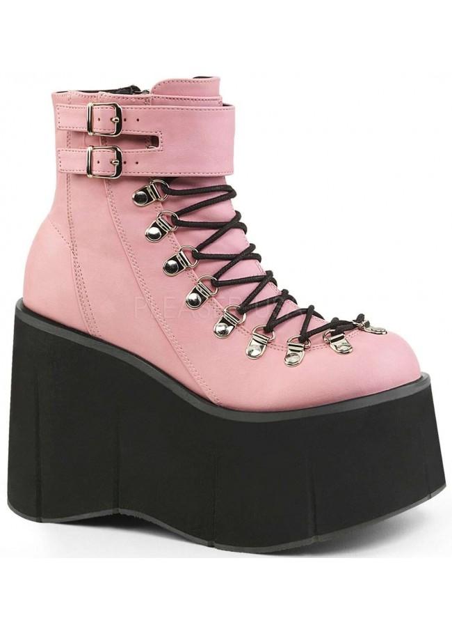Kera Pink Platform Ankle Boots - Gothic