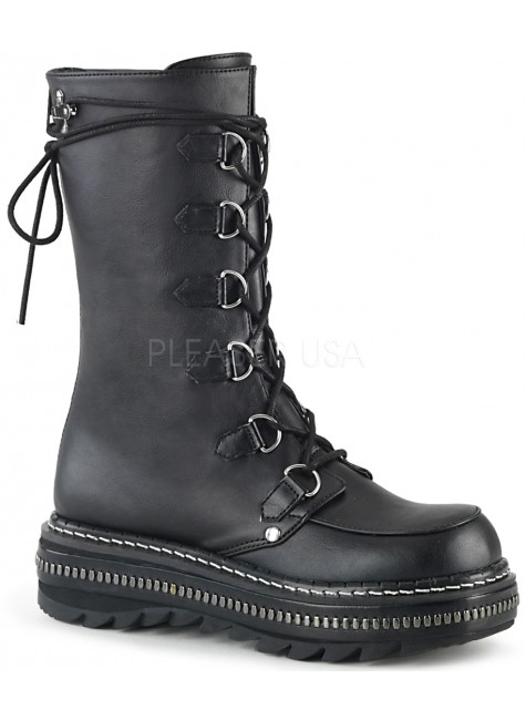 Lilith Metal Trimmed Mid-Calf Womens Black Boot at Gothic Plus, Gothic Clothing, Jewelry, Goth Shoes & Boots & Home Decor