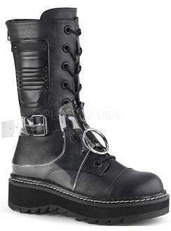 Lilith Mid-Calf Womens Black Harness Boot Gothic Plus Gothic Clothing, Jewelry, Goth Shoes & Boots & Home Decor