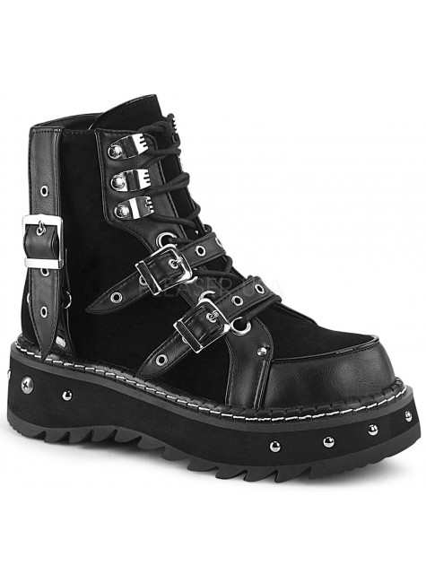 Lilith Black Platform Ankle Boots at Gothic Plus, Gothic Clothing, Jewelry, Goth Shoes & Boots & Home Decor