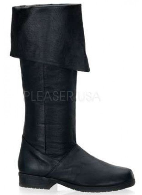 Maverick Unisex Flat Knee High Pirate Boot at Gothic Plus, Gothic Clothing, Jewelry, Goth Shoes & Boots & Home Decor