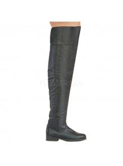 Maverick Unisex Flat Thigh High Pirate Boot