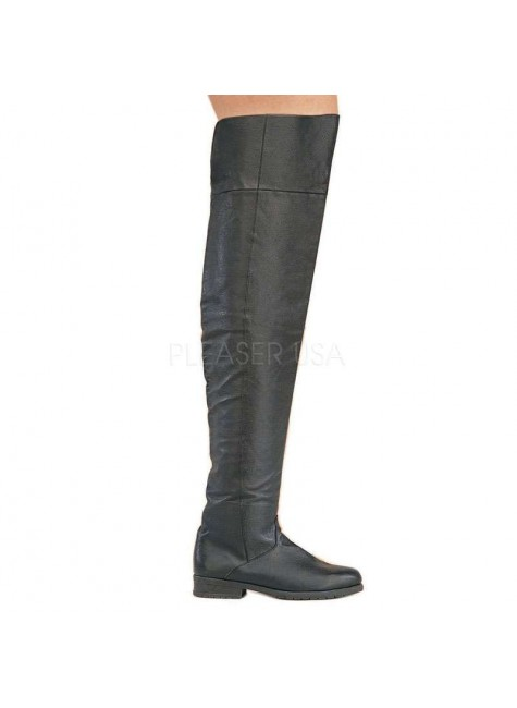 Maverick Unisex Flat Thigh High Pirate Boot at Gothic Plus, Gothic Clothing, Jewelry, Goth Shoes & Boots & Home Decor