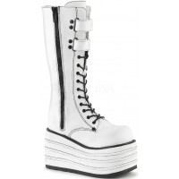Mori White Canvas Sneaker Boot for Women