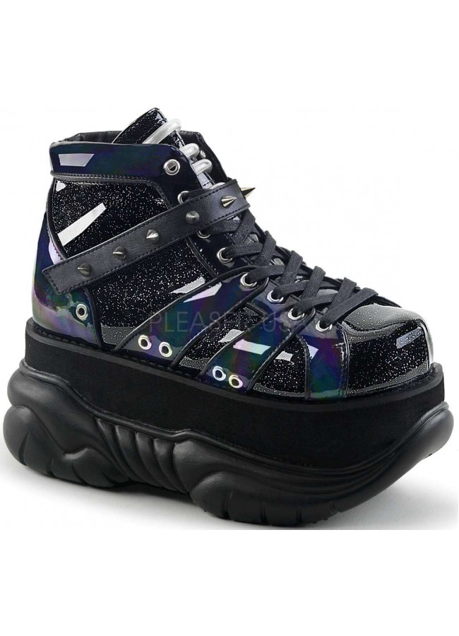 newest f880e e9a51 Neptune Black Holographic Mens Shoes at Gothic Plus, Gothic Clothing,  Jewelry, Goth Shoes