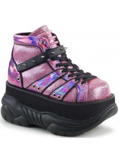 Neptune Pink Holographic Mens Shoes Gothic Plus Gothic Clothing, Jewelry, Goth Shoes & Boots & Home Decor