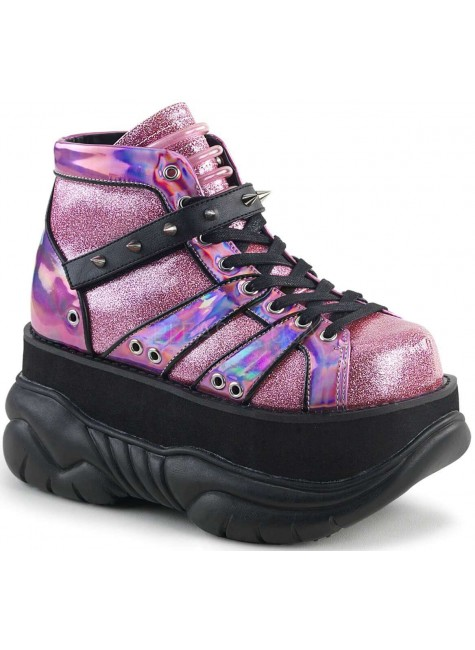Neptune Pink Holographic Mens Shoes at Gothic Plus, Gothic Clothing, Jewelry, Goth Shoes & Boots & Home Decor