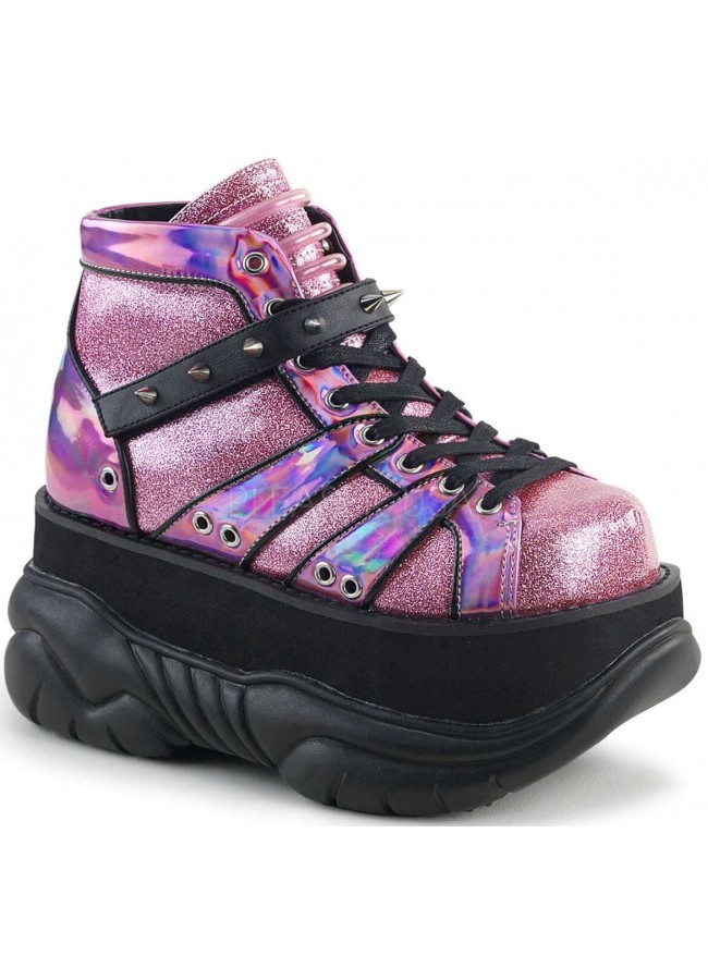 more photos 91983 ae182 Neptune Pink Holographic Mens Shoes at Gothic Plus, Gothic Clothing,  Jewelry, Goth Shoes
