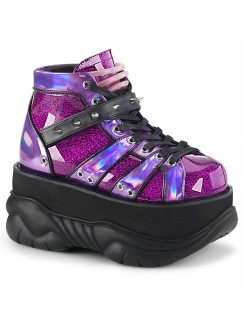 Neptune Purple Holographic Mens Shoes Gothic Plus Gothic Clothing, Jewelry, Goth Shoes & Boots & Home Decor