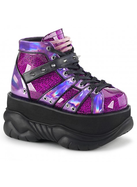 Neptune Purple Holographic Mens Shoes at Gothic Plus, Gothic Clothing, Jewelry, Goth Shoes & Boots & Home Decor