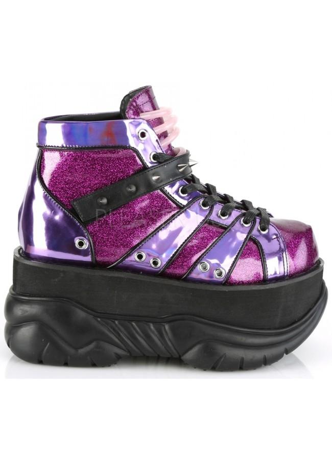 f050ee81ac66 Neptune Purple Holographic Mens Shoes - Festival, Rave, Unisex Platform