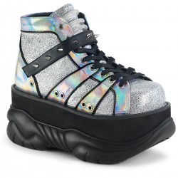 Neptune Silver Holographic Mens Platform Shoes Gothic Plus Gothic Clothing, Jewelry, Goth Shoes & Boots & Home Decor