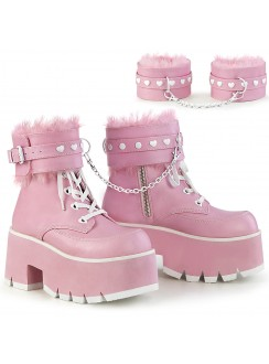 Ashes Pink Hobble Boots with Removable Ankle Cuffs