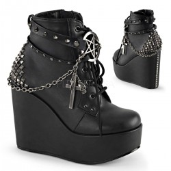 Pentagram Charm The Craft Gothic Ankle Boot Gothic Plus Gothic Clothing, Jewelry, Goth Shoes & Boots & Home Decor