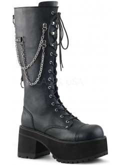 Ranger Mens Knee High Combat Boot with Chains Gothic Plus Gothic Clothing, Jewelry, Goth Shoes & Boots & Home Decor