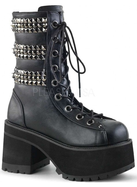 Ranger Studded Womens Platform Combat Boot at Gothic Plus, Gothic Clothing, Jewelry, Goth Shoes & Boots & Home Decor