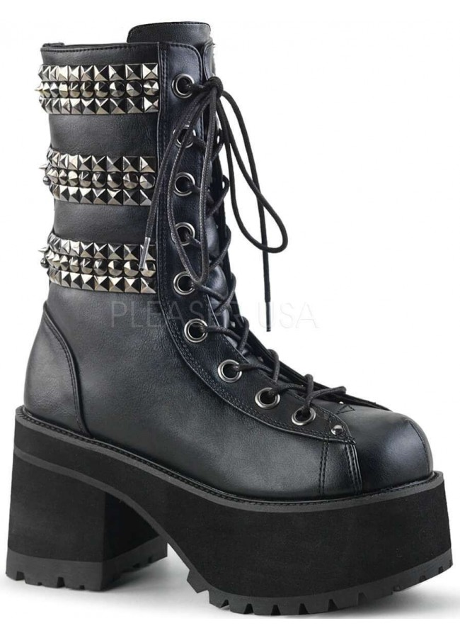 2fab5c63058 Ranger Studded Womens Platform Combat Boot at Gothic Plus