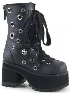 Ranger Eyelet Womens Platform Combat Boot Gothic Plus Gothic Clothing, Jewelry, Goth Shoes & Boots & Home Decor