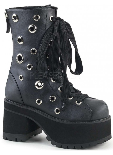 Ranger Eyelet Womens Platform Combat Boot at Gothic Plus, Gothic Clothing, Jewelry, Goth Shoes & Boots & Home Decor