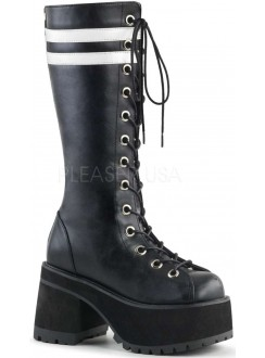 Ranger Mens Combat Boot with White Stripes Gothic Plus Gothic Clothing, Jewelry, Goth Shoes & Boots & Home Decor