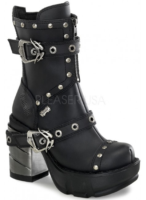 Sinister Womens Motorcycle Boot at Gothic Plus, Gothic Clothing, Jewelry, Goth Shoes & Boots & Home Decor