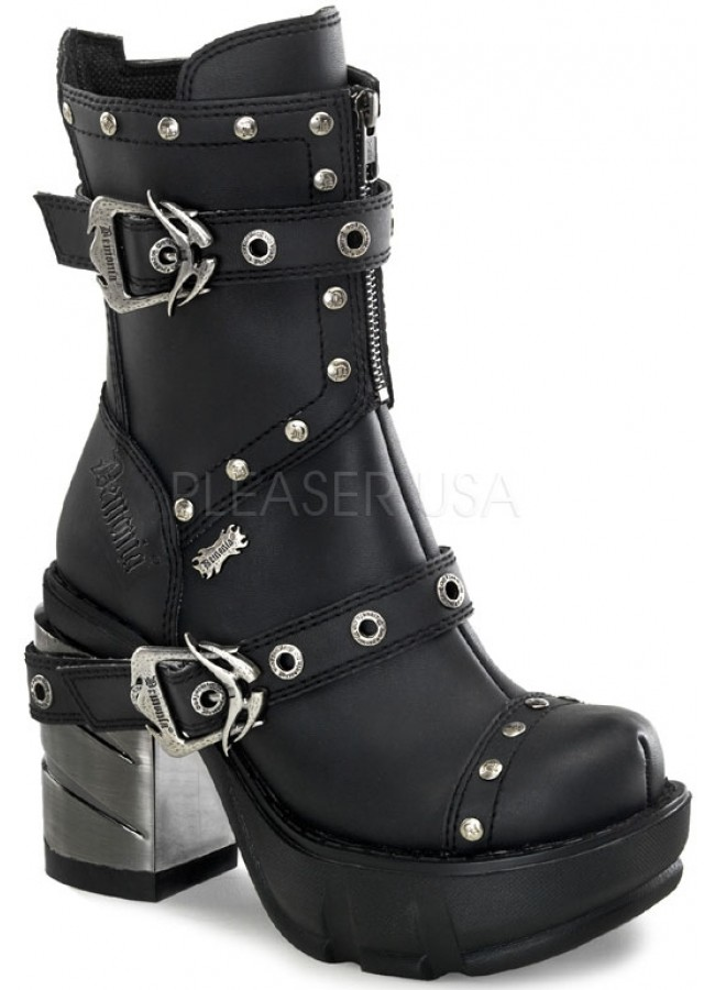 Sinister Womens Motorcycle Boot Gothic Boots