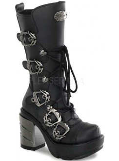 Sinister Buckled Womens Motorcycle Boot Gothic Plus Gothic Clothing, Jewelry, Goth Shoes & Boots & Home Decor