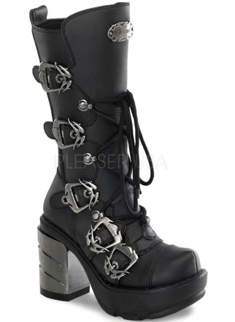 Sinister Buckled Womens Motorcycle Boot at Gothic Plus, Gothic Clothing, Jewelry, Goth Shoes & Boots & Home Decor