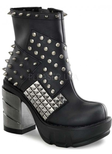 Spiked and Studded Sinister Womens Boot at Gothic Plus, Gothic Clothing, Jewelry, Goth Shoes & Boots & Home Decor