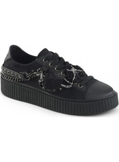 Black Bat Gothic Low Top Bondage Strap Sneaker Gothic Plus Gothic Clothing, Jewelry, Goth Shoes & Boots & Home Decor
