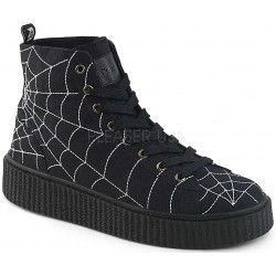 Spiderweb Black Canvas High Top Sneaker Gothic Plus Gothic Clothing, Jewelry, Goth Shoes & Boots & Home Decor