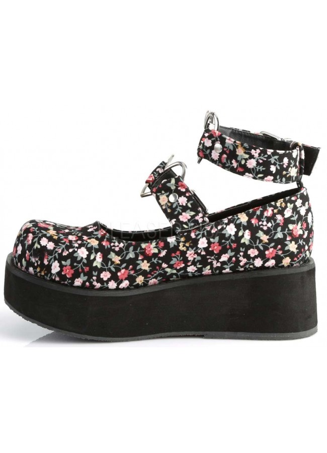 0972cd18f6d Sprite Floral Print Heart Ring Platform Mary Jane - Heart Ring Ankle ...