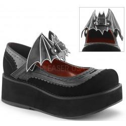 Bat Sprite Black Platform Mary Jane Shoe Gothic Plus Gothic Clothing, Jewelry, Goth Shoes, Boots & Home Decor