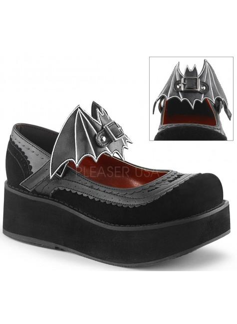 Bat Sprite Black Platform Mary Jane Shoe