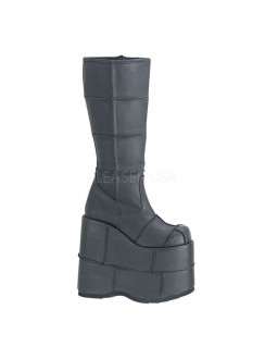 Mens Platform Patched Knee Boot Gothic Plus Gothic Clothing, Jewelry, Goth Shoes & Boots & Home Decor