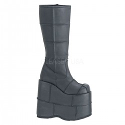 Mens Platform Patched Knee Boot Gothic Plus  Gothic Clothing, Jewelry, Goth Shoes, Boots & Home Decor
