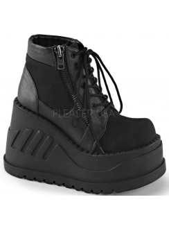 Stomp Zippered Womens Platform Sneaker Gothic Plus Gothic Clothing, Jewelry, Goth Shoes & Boots & Home Decor