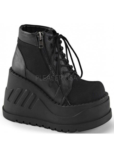 Stomp Zippered Womens Platform Sneaker at Gothic Plus, Gothic Clothing, Jewelry, Goth Shoes & Boots & Home Decor