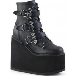 Bat Buckled Swing 103 Wedge Platform Ankle Boot Gothic Plus Gothic Clothing, Jewelry, Goth Shoes & Boots & Home Decor